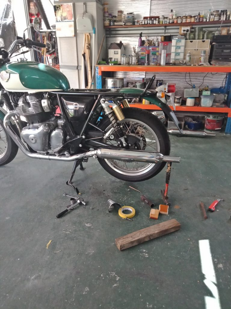 Triumph to Royal Enfield Exhaust Mod